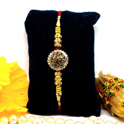 Fancy Swastik Diamonte Rakhi