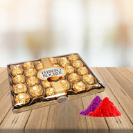 24 Pcs Ferrero Rocher Chocolate Box With Free Gulal