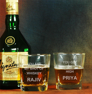 Personalised Engraved Whisky Glasses
