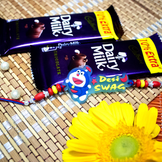 Desi Swag Rakhi with Dairy Milk Chocolates