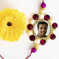 Floral Colorful Bead Photo Rakhi