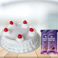 Vanilla Cake with Cadbury Silk Combo