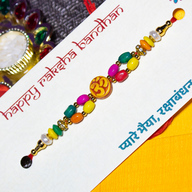 Colourful OM Rakhi