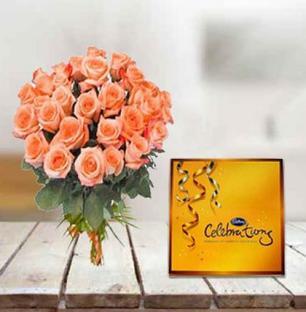Peach Roses & Chocolate