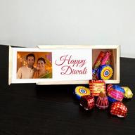 Diwali wooden Photo Crackers Box