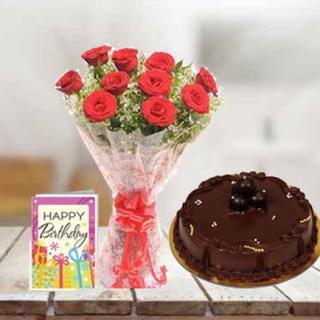 Roses, Cake & Card