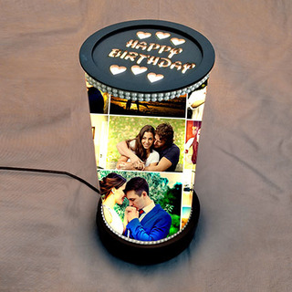 Rotating Birthday Memories Lamp