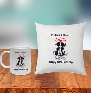 Happy Valentines Cushion and Mug