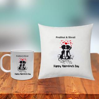 Happy Valentines Cushion and Mug