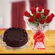 Chocolate Cake & Roses