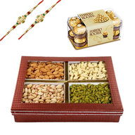 Rakhi with Mix Dry Fruits and Chocolates