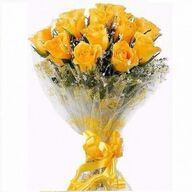 Valentine Yellow Roses Bunch
