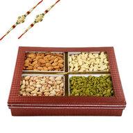 Rakhi with Mix Dry Fruits Box