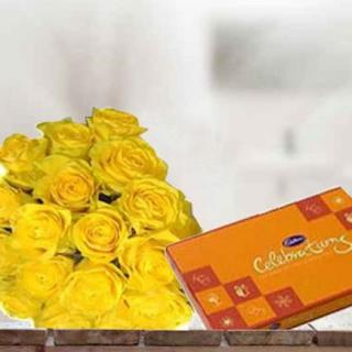 Yellow Roses & Chocolate