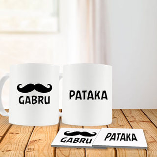 Gabru Pataka Mug and Coasters