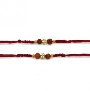 Set of 2 Rakhis- Rudraksha