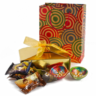 Diwali Chocolate Dates Hamper with Diyas