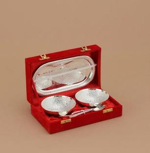2 Pcs bowl Set-Silver