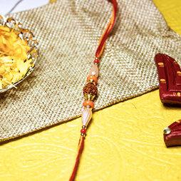 Rudraksh & Beads Rakhi