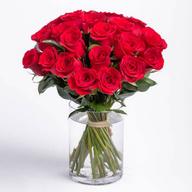 Red Roses Vase Large