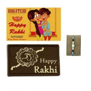 Happy Rakhi Chocolate with Blue Rakhi