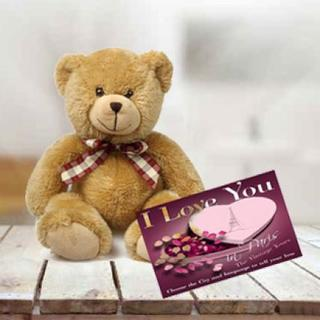 Teddy With Greeting Card