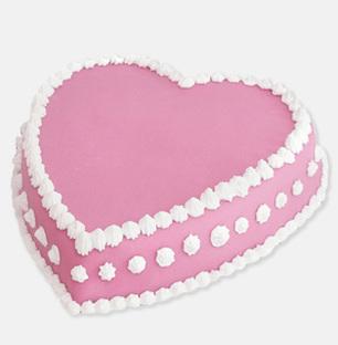 Heart Pink Strawberry Cake