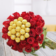 Valentine Floral chocolate bouquet
