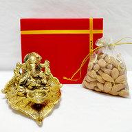 Ganesha Diya with Almonds Potli