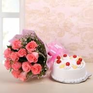 Glory Pink Roses & Choco Combo