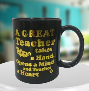 Great Teacher Black Mug