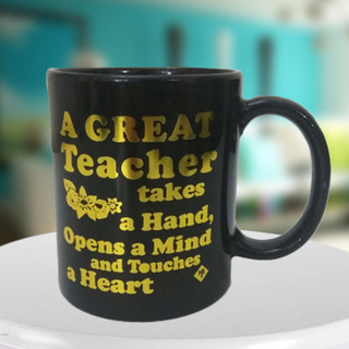 Great Teacher Black Mug