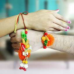 Colorful Rakhi Loomba Set
