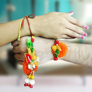 Colorful Rakhi Lumba Set