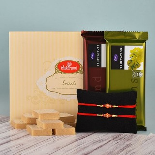 Rakhi with Kaju Katli & Chocolates