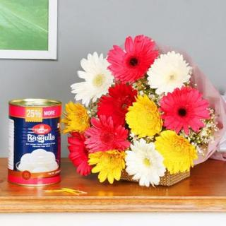 Gerbera with Sweets