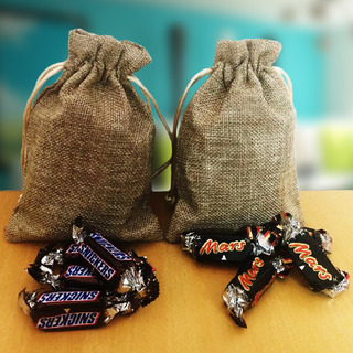 Miniature Imported Chocolates in Jute Bags