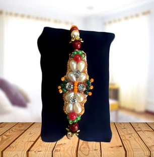 Fancy Beads and Moti Rakhi