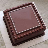 Yummy Square Chocolate Cream Cake