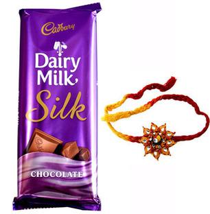 Cadbury Dairy Milk Silk with Rakhi