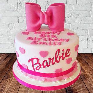Send Barbie Designer Fondant Cake Online In India At Indiagift In