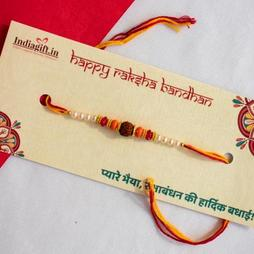 Exquisite Rudraksh Rakhi