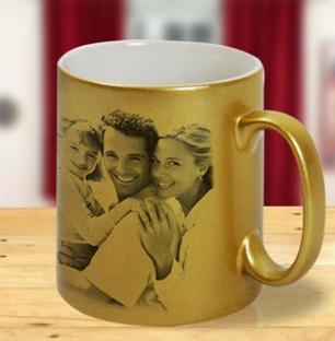 Golden Photo Mug
