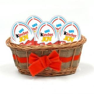 Easter Eggs Kinder Joy Basket