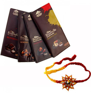 Bournville Treat with 2 Rakhis