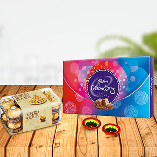 Ferrero Rocher with Cadbury Celebration & Diyas