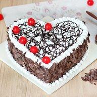 Elegant Heart Shape Blackforest Cake