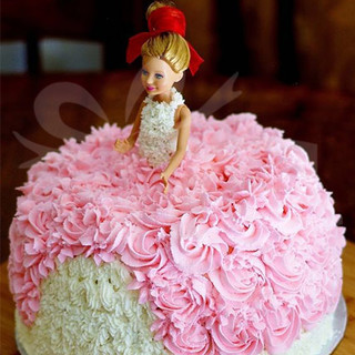 Send Swirl Barbie Cake Online In India At Indiagift In