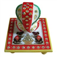 Marble Ganesha with Chowki