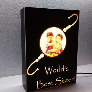 Rakhi Personalized Lamp with Caption